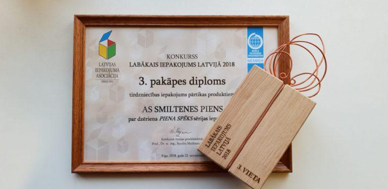 3. vieta Latvijas Iepakojuma asociācijas organizētajā nacionālajā konkursā LABĀKAIS IEPAKOJUMS LATVIJĀ!
