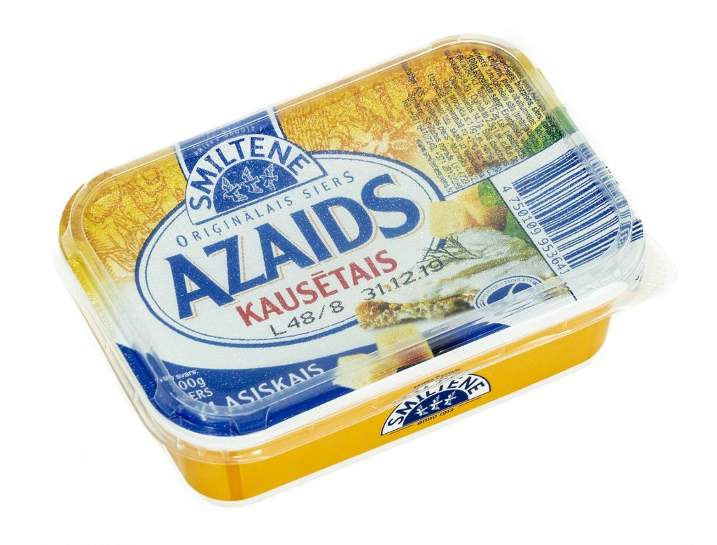 "Kausētais siers ""AZAIDS"" (fasēts)"